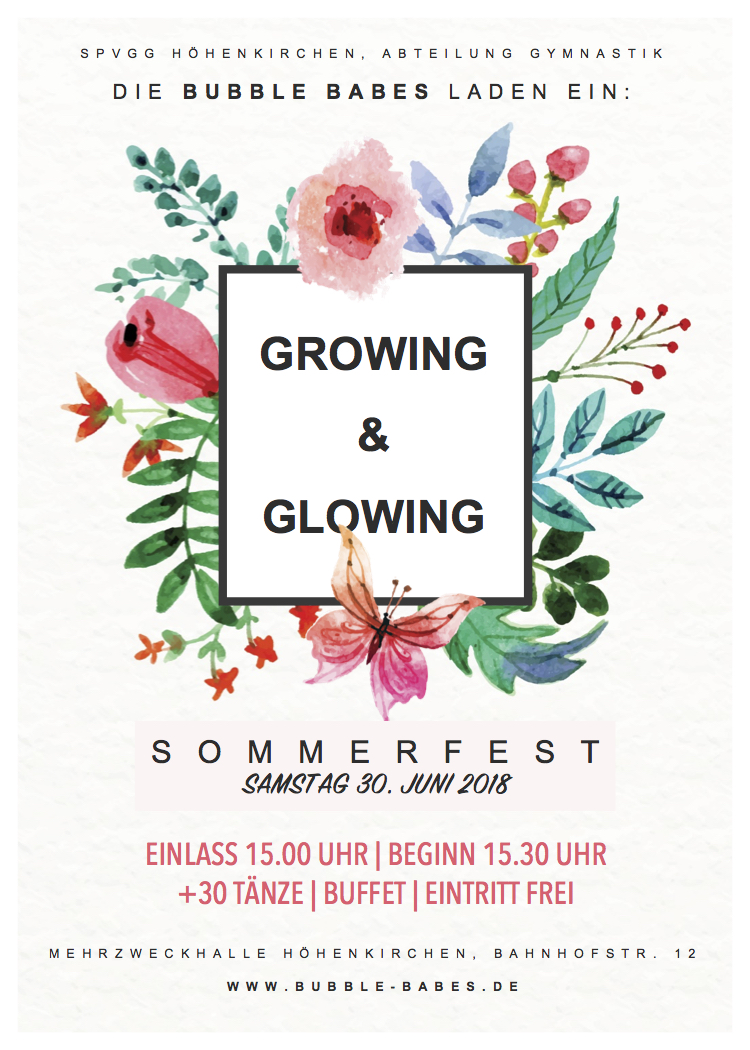 BB Sommerfest Growing & Glowing